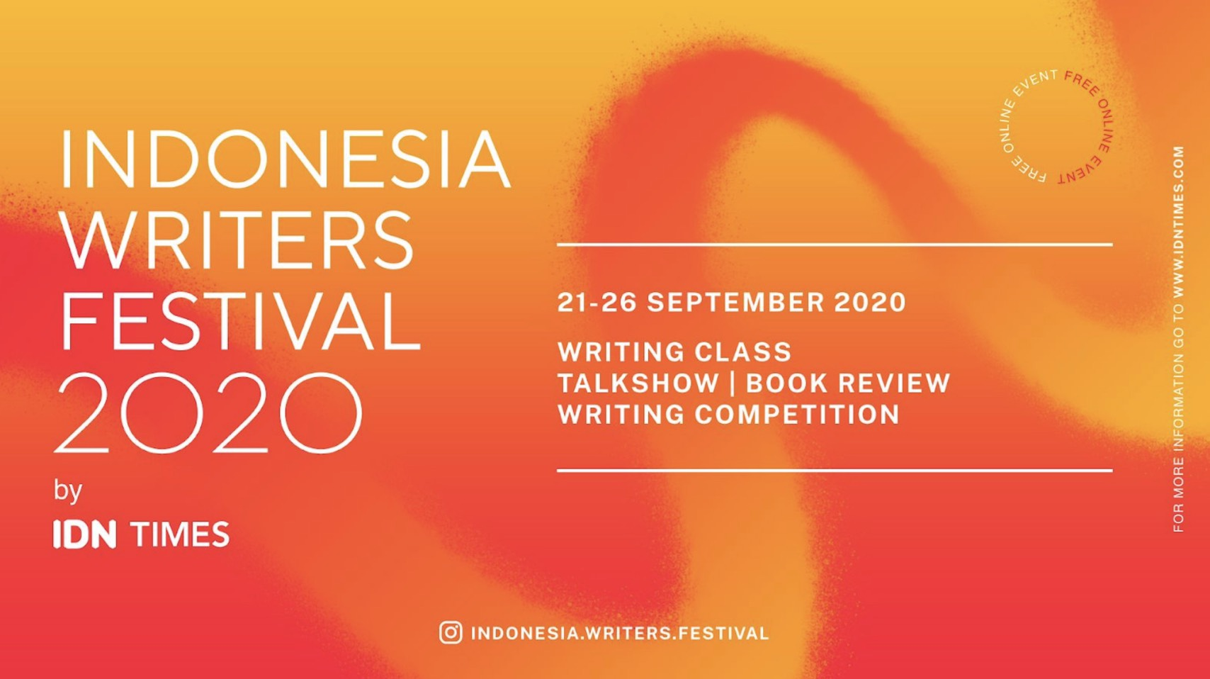 Festival Menulis Indonesia Writers Festival 2020 Hadir Secara Virtual di Bulan September